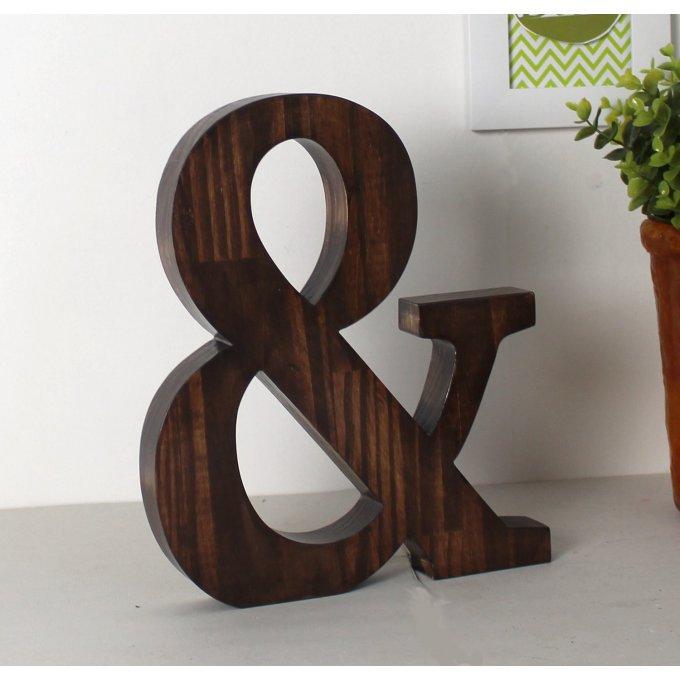 grande lettre en pin lamell massif teint e de 30 cm de. Black Bedroom Furniture Sets. Home Design Ideas