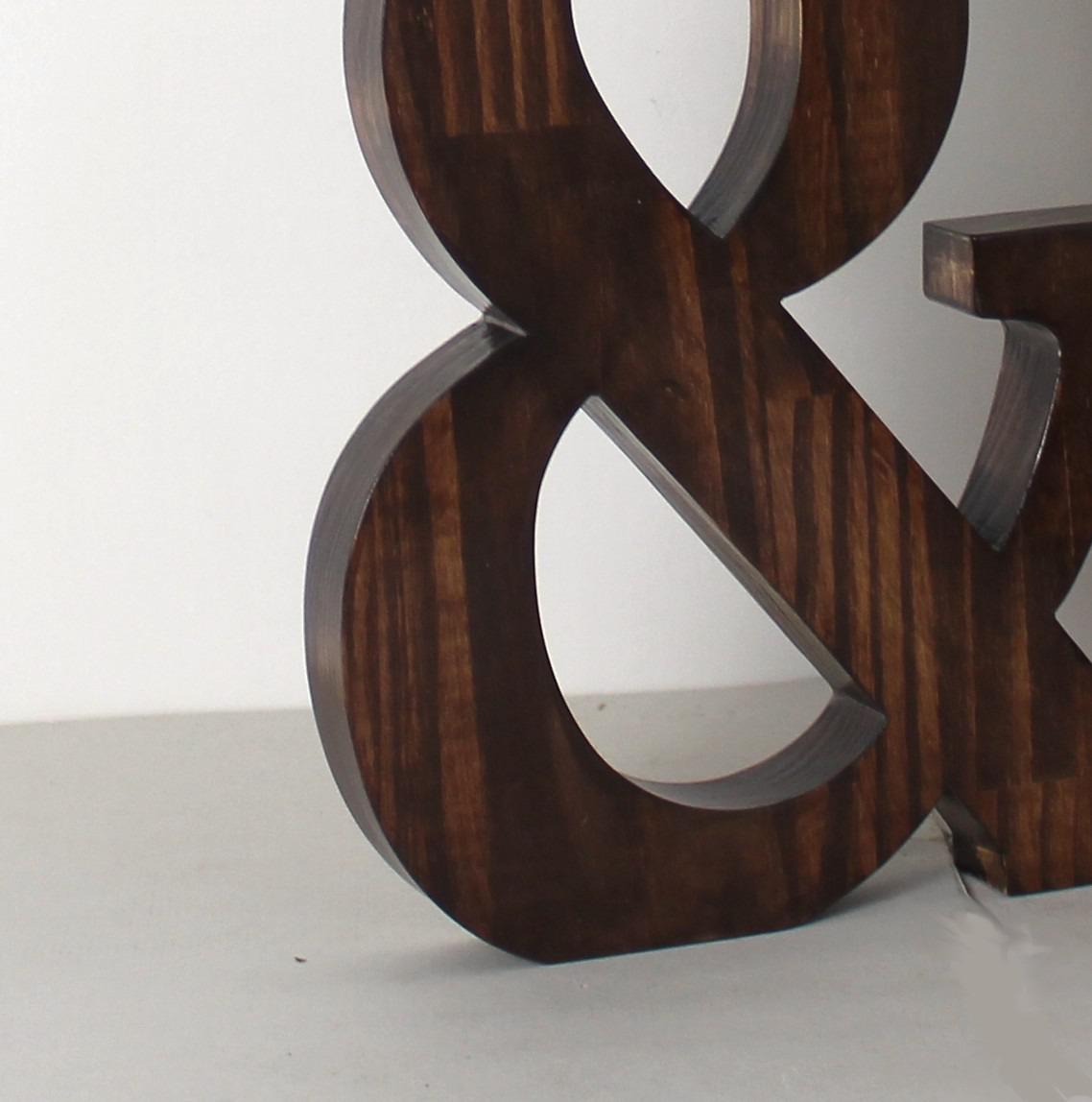grande lettre en pin lamell massif teint e de 30 cm de hauteur. Black Bedroom Furniture Sets. Home Design Ideas