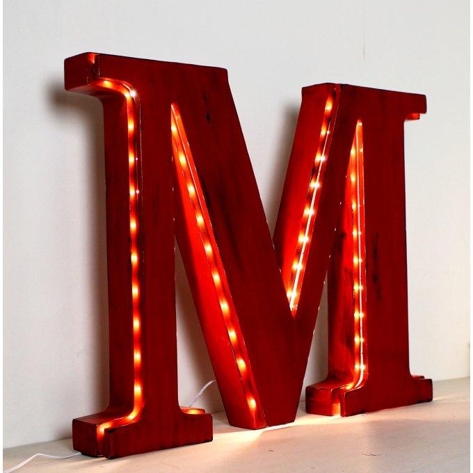 lettre lumineuse g ante e de 50 cm de hauteur poser. Black Bedroom Furniture Sets. Home Design Ideas