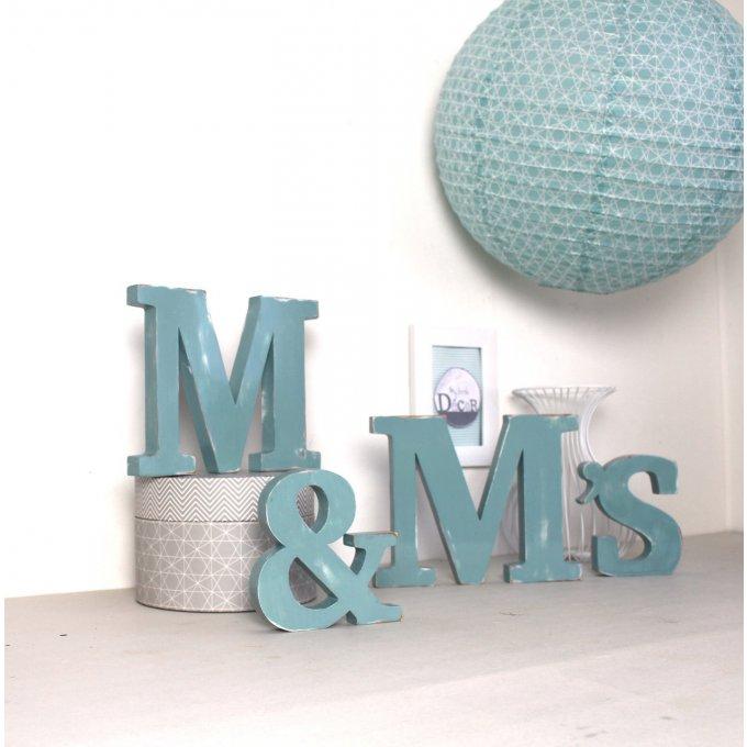 lettres en bois m m 39 s couleur personnalisable. Black Bedroom Furniture Sets. Home Design Ideas