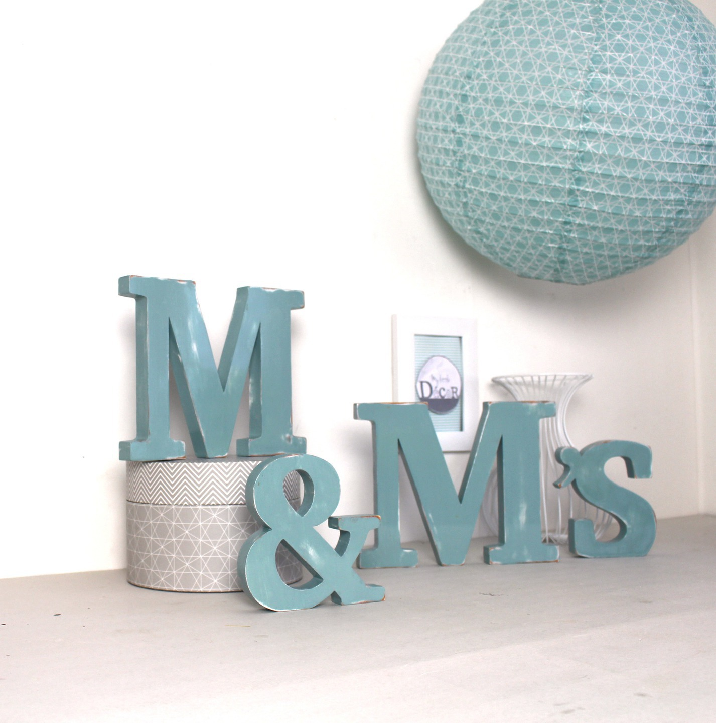 lettres en bois m m 39 s couleur personnalisable. Black Bedroom Furniture Sets. Home Design Ideas