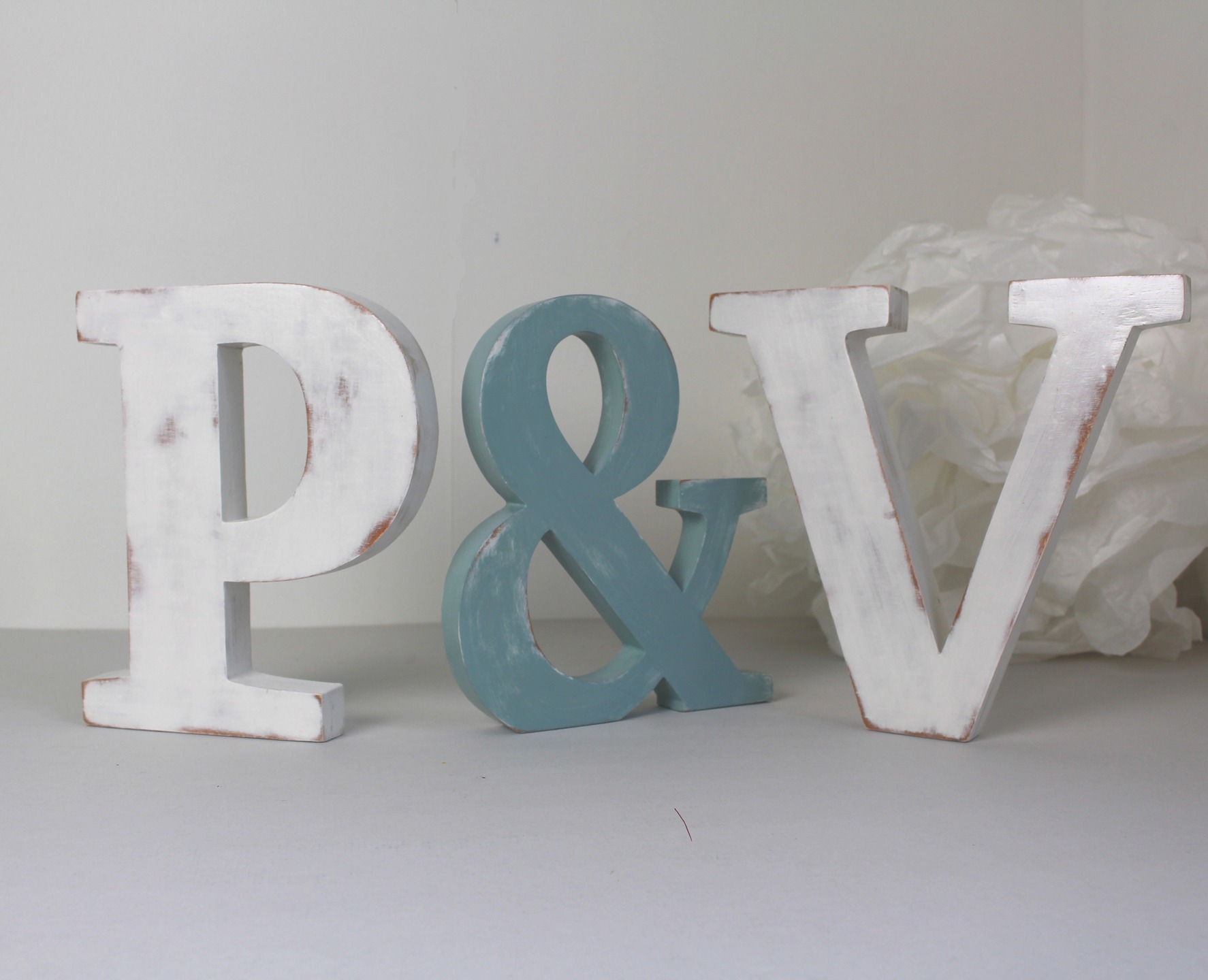 lettres en bois p v poser bleu baltique et blanc mariage d coration. Black Bedroom Furniture Sets. Home Design Ideas