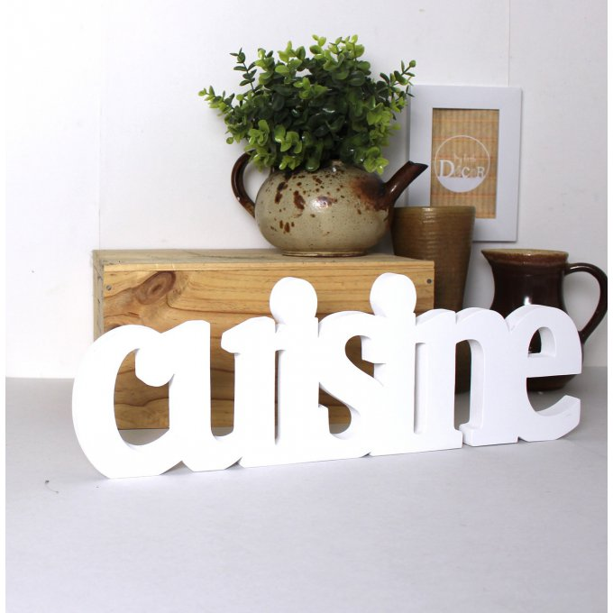 mot cuisine poser couleur personnalisable. Black Bedroom Furniture Sets. Home Design Ideas