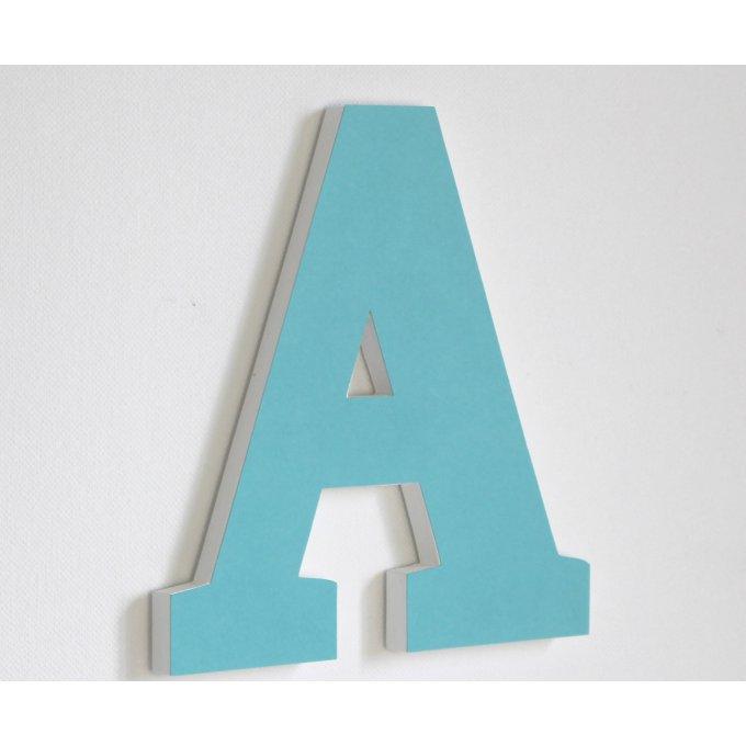 grande lettre personnalisable en bois a bleu turquoise naissance anniversaire chambre d. Black Bedroom Furniture Sets. Home Design Ideas