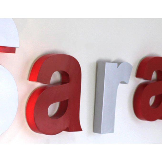 pr nom g ant sarah avec lettre lumineuse couleurs personnalisables. Black Bedroom Furniture Sets. Home Design Ideas
