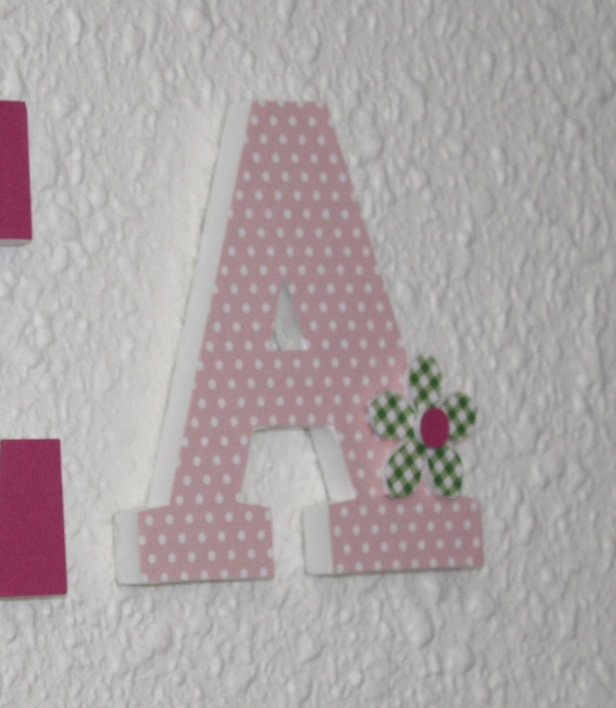 pr nom en bois personnalis t a rose vert avec des fleurs pour d coration de chambre bapt me. Black Bedroom Furniture Sets. Home Design Ideas