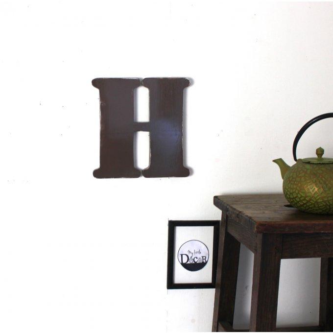lettre murale patin e en 23 cm de hauteur en 1 3 cm d 39 paisseur police ronde. Black Bedroom Furniture Sets. Home Design Ideas