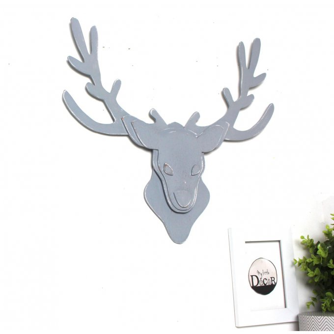 Mylittledecor d corations murales - Tete de cerf en bois ...