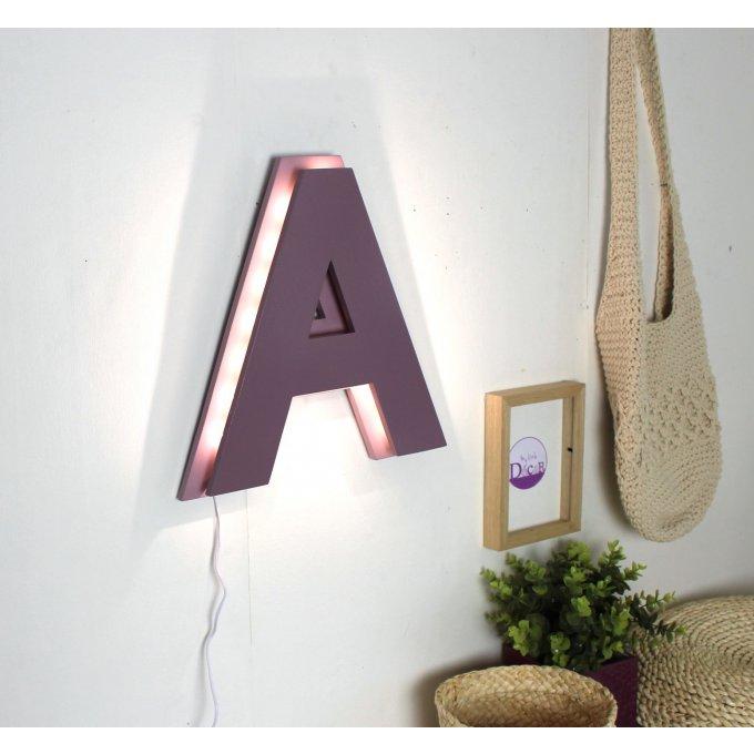 lettre lumineuse a bicolore effet laqu couleurs. Black Bedroom Furniture Sets. Home Design Ideas