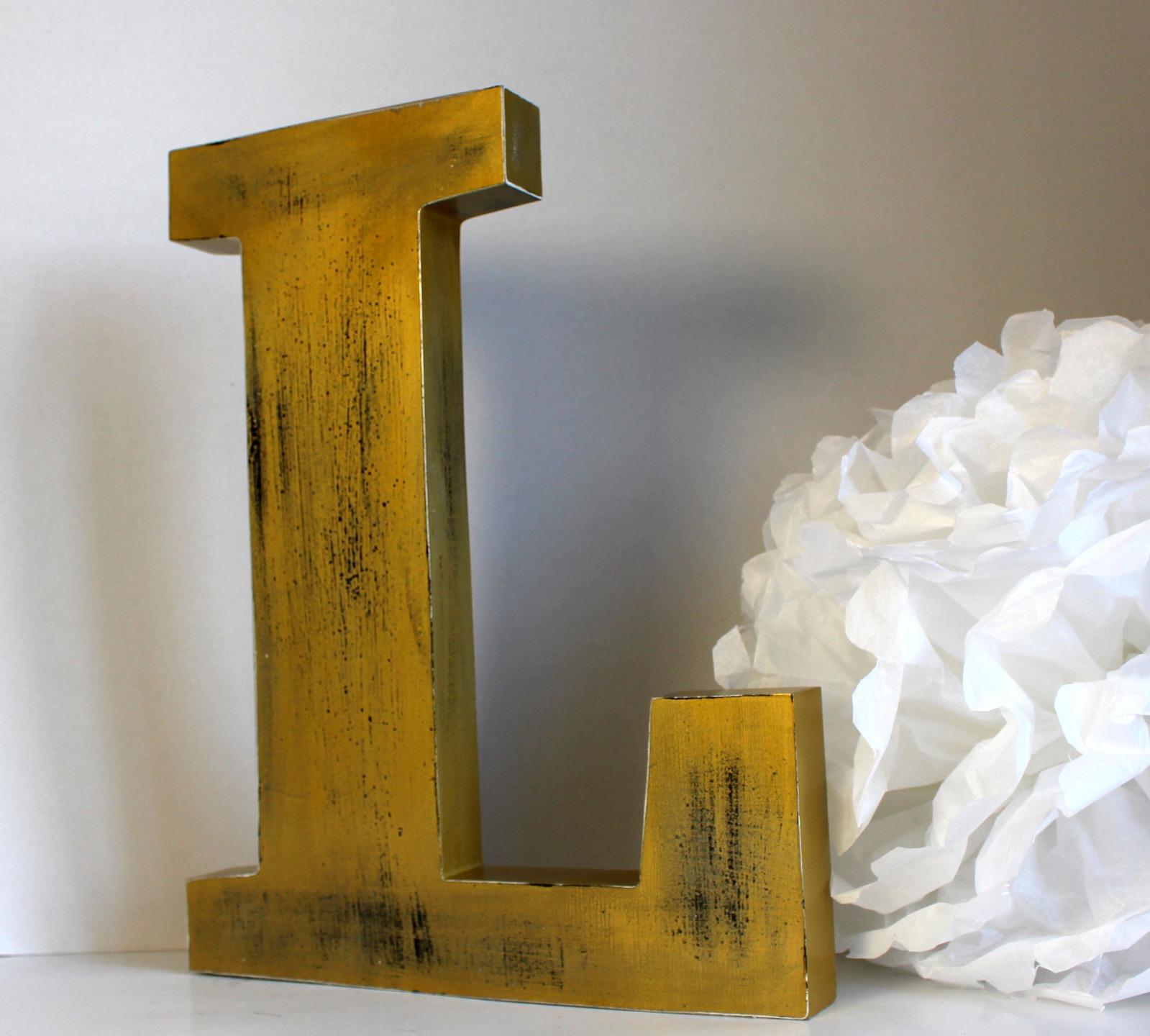 Cuisine & Maison Loisirs créatifs L Lettre géante en bois 15 cm