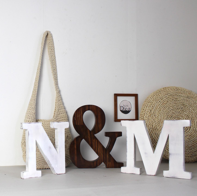lettres et esperluette en bois mylittledecor - création