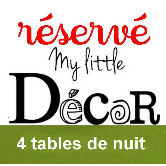 Réservé: Lot de 4 tables de chevet.